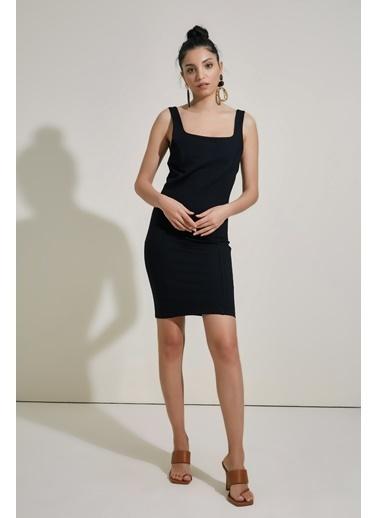 People By Fabrika Askılı Elbise Siyah